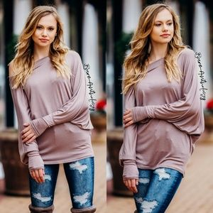 Mocha Dolman Sleeve Top